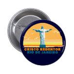 Río - Corcovado - Jesucristo el redentor Pin Redondo De 2 Pulgadas