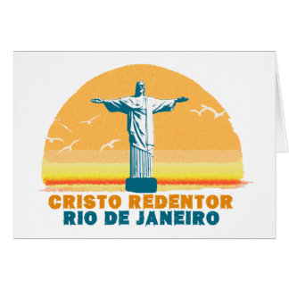 Rio - Corcovado - Jesus Christ the Redeemer Card