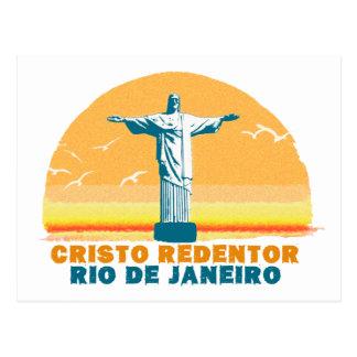 Rio - Corcovado - Jesus Christ the Redeemer Postcard
