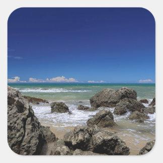 Rio Da Barra Beach | Trancoso, Bahia State, Square Sticker