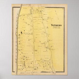 Río Dale y mapa del atlas del Mt San Vicente Poster