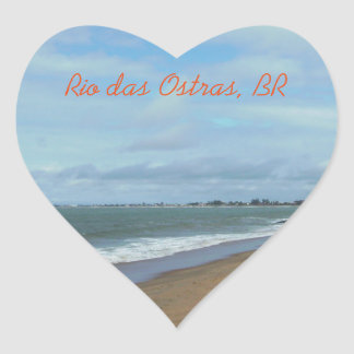 Rio das Ostras, Brasil Heart Sticker