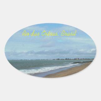 Rio das Ostras, Brasil Oval Sticker