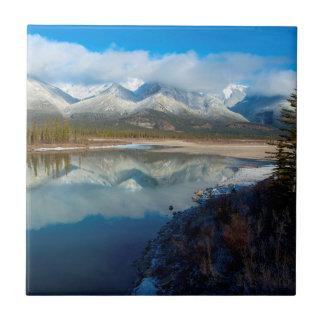 Río de Athabasca, parque nacional de jaspe, Azulejo Cuadrado Pequeño