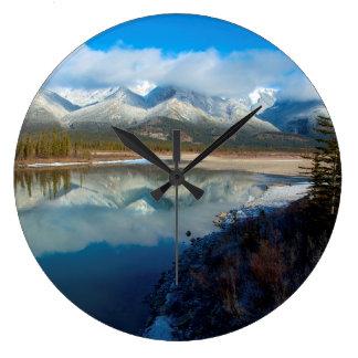 Río de Athabasca, parque nacional de jaspe, Reloj Redondo Grande