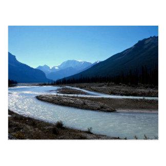 Río de Athabasca, ruta verde de Icefield, Alberta, Tarjetas Postales