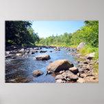Río de AuSable en el Adirondacks. impresión 08 305 Póster