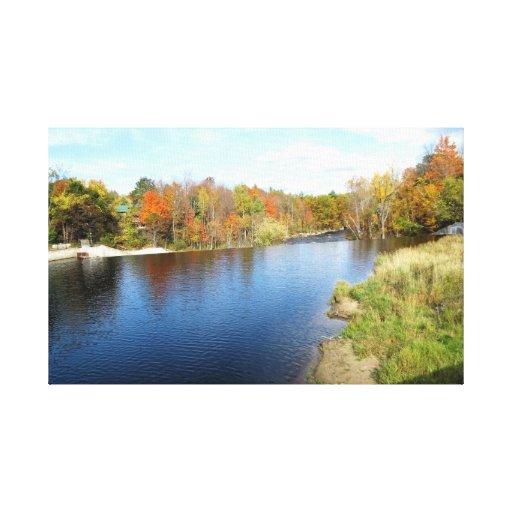 Río de AuSable - Wilmington, NY Lona Estirada Galerías