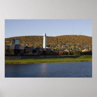 Río de Chemung en Corning NY Póster