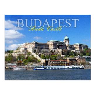 Río de desatención Danubio del castillo de Buda en Postal