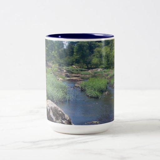 Río de Eno, Carolina del Norte Taza Dos Tonos