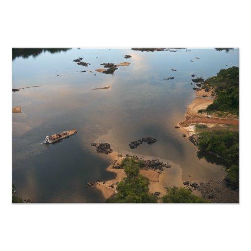Río de Essequibo, el río más largo en Guyana, y 2 Foto