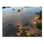 Río de Essequibo, el río más largo en Guyana, y 2 Postal
