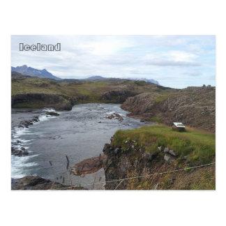 Río de Flókadalsá, cerca de Borgarnes, Islandia Postales