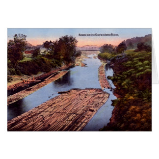 Río de Huntington Virginia Occidental Guyandotte Tarjeta De Felicitación