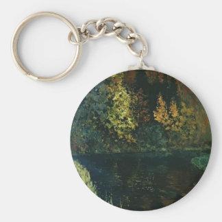 Río de Isaac Levitan- en el bosque. Otoño Llavero Personalizado