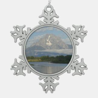 Río de Jackson Hole Adorno De Peltre En Forma De Copo De Nieve