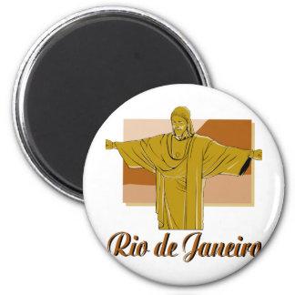 Rio de Janeiro 2 Inch Round Magnet