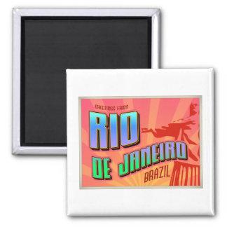 RIO de JANEIRO 2 Inch Square Magnet