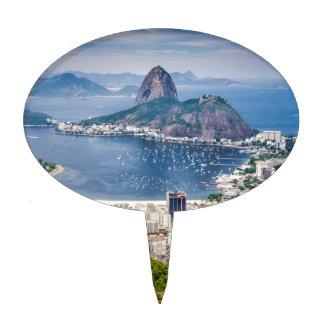 Rio de Janeiro aerial view Cake Topper