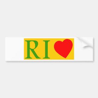 Rio de Janeiro amor Pegatina De Parachoque