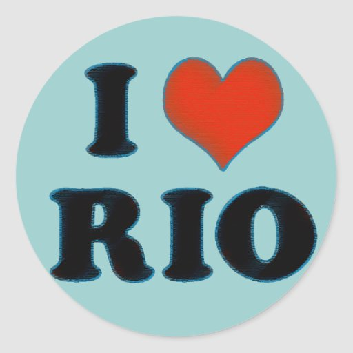 Río de Janeiro - amor Río de I Pegatina Redonda