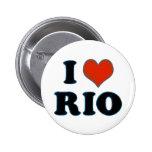 Río de Janeiro - amor Río de I Pin Redondo De 2 Pulgadas