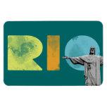 rio de janeiro and cristo redentor magnets
