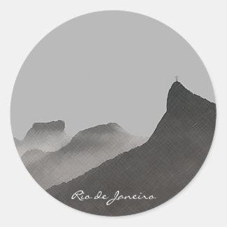rio de janeiro, brasil classic round sticker