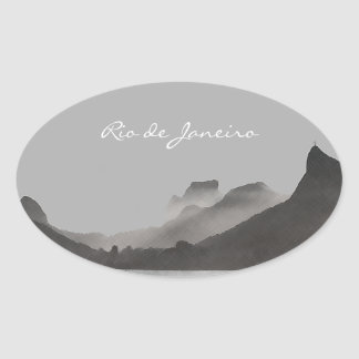 rio de janeiro, brasil oval sticker