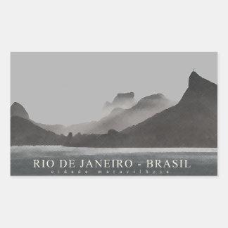 rio de janeiro, brasil rectangular sticker