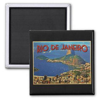 Rio de Janeiro Brazil 2 Inch Square Magnet