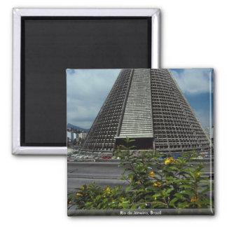 Rio de Janeiro, Brazil 2 Inch Square Magnet