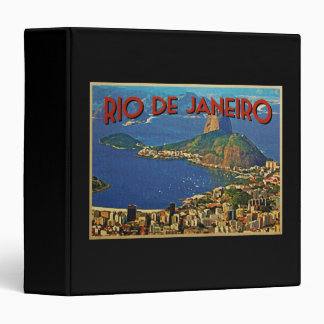Rio de Janeiro Brazil 3 Ring Binder