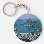 Rio de Janeiro, Brazil Basic Round Button Keychain