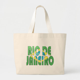 Rio de Janeiro, Brazil Large Tote Bag