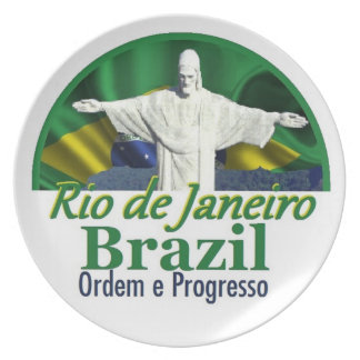 Rio de Janeiro Brazil Plate