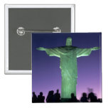 Rio de Janeiro, Brazil. the Christ Statue on Button