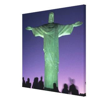 Rio de Janeiro, Brazil. the Christ Statue on Canvas Print