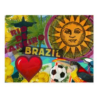 rio de janeiro brazil travel collage america postcard