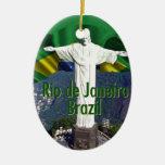 Río de Janeiro el Brasil Adorno De Navidad