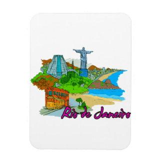 Río de Janeiro - el Brasil Imán Rectangular