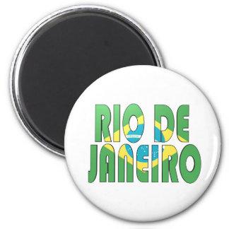 Río de Janeiro, el Brasil Imán Redondo 5 Cm