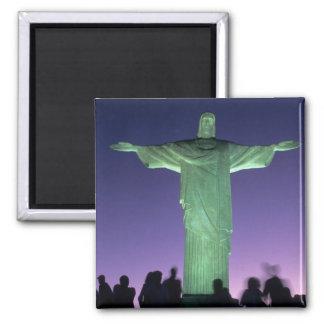 Río de Janeiro, el Brasil. la estatua de Cristo en Imán Cuadrado