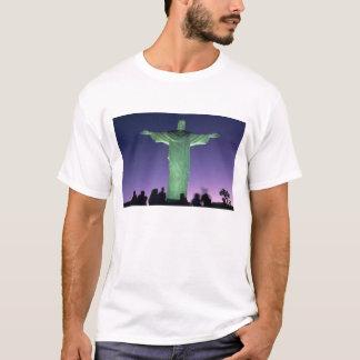 Río de Janeiro, el Brasil. la estatua de Cristo Playera