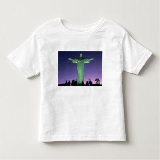 Río de Janeiro, el Brasil. la estatua de Cristo Playera De Bebé
