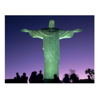 Río de Janeiro, el Brasil. la estatua de Cristo Postales