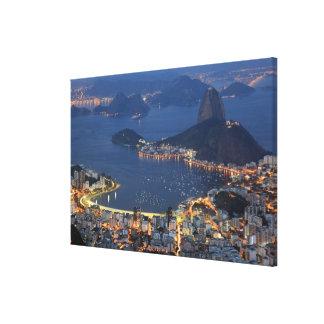Río de Janeiro, el Brasil Lienzo Envuelto Para Galerias