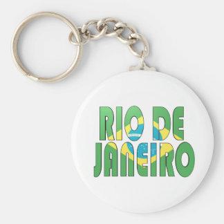 Río de Janeiro, el Brasil Llavero Redondo Tipo Pin