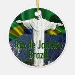 Río de Janeiro el Brasil Ornamento De Navidad